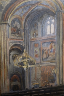 'Alterchenfelder Kirchen' acrylic on board
