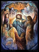 'Ascension of the Christ' oil and egg tempera on wood
