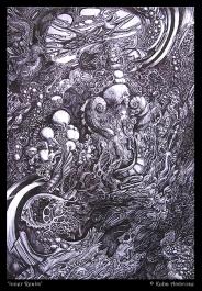 'Inner Realm' ballpoint pen on paper
