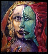 Memory the Brides - oil and tempera on wood