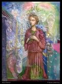 'Soul Sister' watercolour & egg tempera on paper 21x15cm €460 - framed, free shipping worldwide