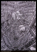 'The Fall' ballpoint pen on paper