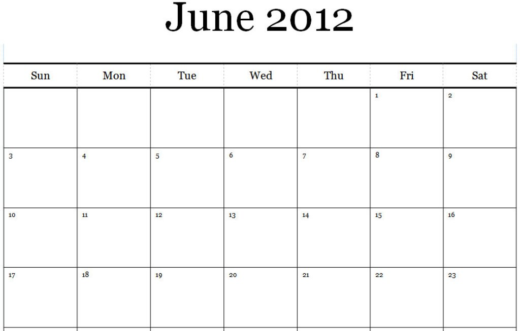 Published june 3 2012 at 1024 215 653 in june 2012 calendar printable