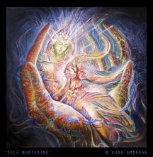 'Self Nurturing' oil & egg tempera on canvas SOLD