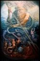 'Will of Neptune' oil & egg tempera on wood