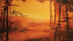 'Baltic Amber' acrylic on canvas
