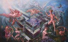 'Remembering Atlantis' oil & egg tempera on canvas