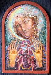 'Angel of Compassion' oil & egg tempera on icon panel 20x30cm €780 - free shipping worldwide
