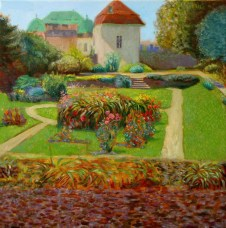 'Botanical Gardens Full Sun' oil on linen 40x40cm €750 framed, free shipping worldwide