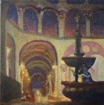 'Palais Ferstel Passage, Vienna' oil on canvas