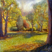 'Afternoon Glow' oil on canvas 40x40cm SOLD