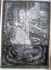 'Angel of the Waters' ink on paper 29.7 x 42.0cm €1600 - framed, free shipping worldwide